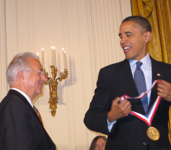 U.S. President Barack Obama conferring the National Medal of Technology and Innovation to Federico Faggin